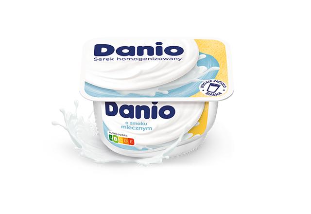Serek homogenizowany Danio o smaku mlecznym