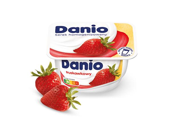 Serek homogenizowany Danio truskawkowy