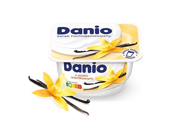 Serek homogenizowany Danio o smaku waniliowym