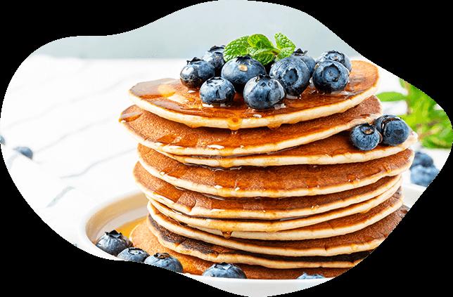 Pancakes z serkiem Danio i borówkami
