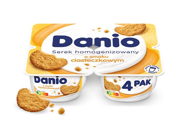 Serek homogenizowany Danio o smaku ciasteczkowym 4-pak