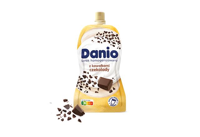 Danio w saszetce z czekoladą