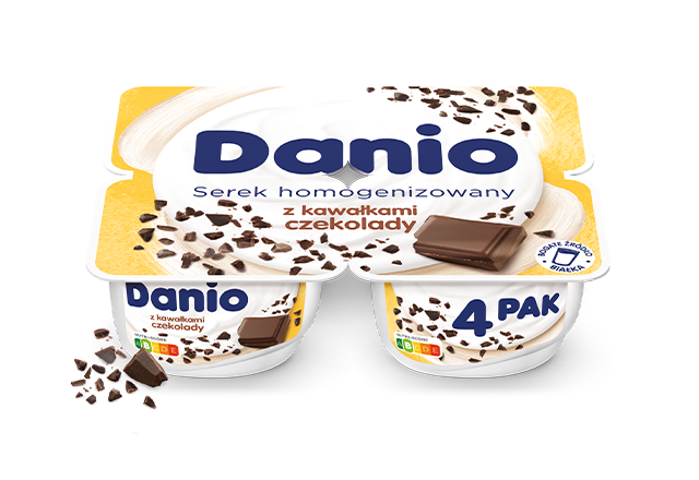 Serek homogenizowany Danio z czekoladą 4-pak