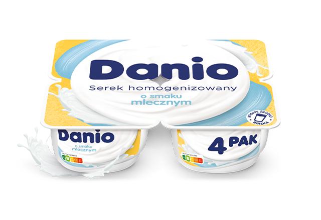 Serek homogenizowany Danio o smaku mlecznym 4-pak