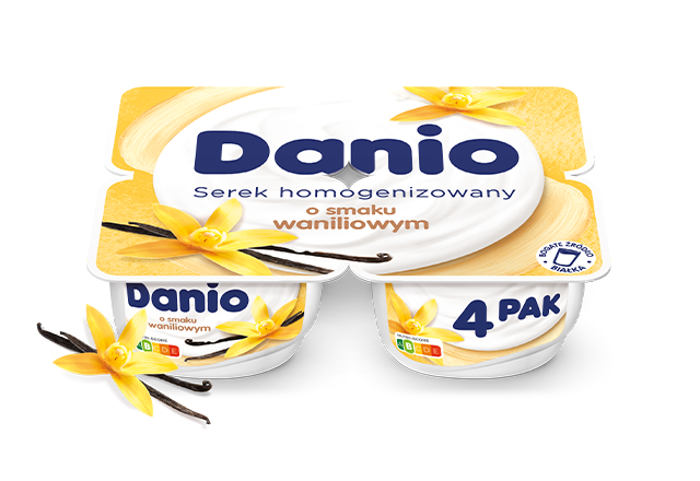 Serek homogenizowany Danio o smaku waniliowym 4-pak