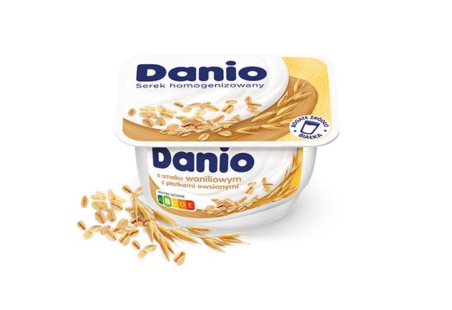 Serek homogenizowany Danio o smaku waniliowym z płatkami owsianymi